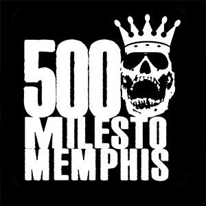 500 milesto Memphis Logo